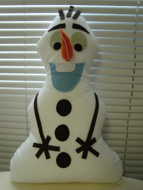 Olaf em feltro - Frozen