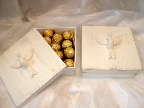 caixa batizado com bombons